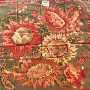 April Cornell sunflower sage 6 napkins NWT